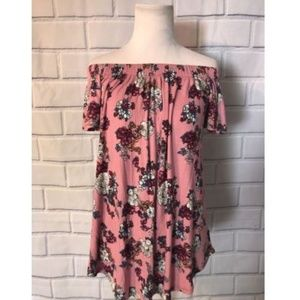 NWT Hippie Rose Off The Shoulder Knit Top Shrt Slv